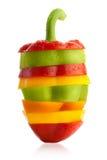 Kleurrijke Gesneden en combinated Verbazende Peper Royalty-vrije Stock Foto's