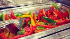 Kleurrijke Gesneden Peper stock foto's