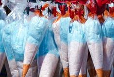 Kleurrijke gesponnen suiker Royalty-vrije Stock Foto