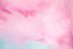 Kleurrijke gesponnen suiker in zachte kleur voor achtergrond Stock Afbeelding