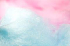 Kleurrijke gesponnen suiker in zachte kleur voor achtergrond Royalty-vrije Stock Afbeeldingen
