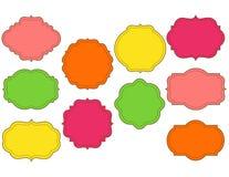 Kleurrijke gestikte geplaatste kaders Royalty-vrije Stock Afbeeldingen