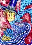 Kleurrijke gestileerde mensen Stock Foto