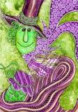 Kleurrijke gestileerde mensen Royalty-vrije Stock Afbeeldingen