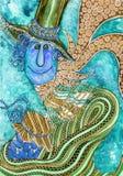 Kleurrijke gestileerde mensen Stock Afbeelding