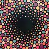 Kleurrijke gestippelde abstracte achtergrond Stock Afbeelding