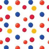 Kleurrijke gestippelde achtergrond Royalty-vrije Stock Foto