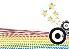 Kleurrijke gestippelde vectorgolven I Stock Afbeelding