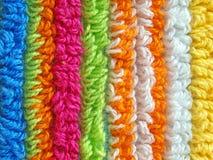 Kleurrijke gestreepte stoffentextuur Royalty-vrije Stock Afbeelding