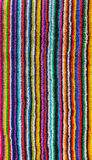 Kleurrijke gestreepte strandhanddoek Royalty-vrije Stock Foto's
