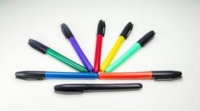 Kleurrijke gevoelde tellers Stock Foto's