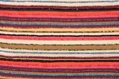 Kleurrijke gevoerde stoffentextuur Stock Foto