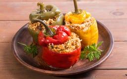 Kleurrijke gevulde peper stock foto