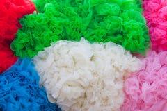 Kleurrijke geweven achtergrond Stock Foto
