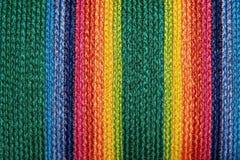Kleurrijke geweven de dekentaxtures & achtergrond van de sisalwol Stock Fotografie