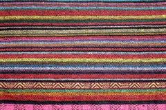Kleurrijke geweven deken Royalty-vrije Stock Foto's