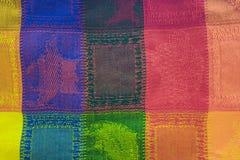 Kleurrijke geweven deken als achtergrond Stock Fotografie