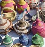 Kleurrijke manden Royalty-vrije Stock Afbeelding