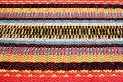 Kleurrijke geweven vezels stock foto's