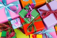 Kleurrijke giftdozen Royalty-vrije Stock Fotografie