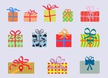 Kleurrijke giftdozen als klemart. Royalty-vrije Stock Fotografie