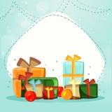 Kleurrijke giftendozen voor Kerstmisviering Stock Fotografie