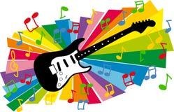 Kleurrijke gitaarillustratie stock illustratie