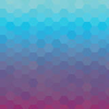 Kleurrijke glanzende blauwe en violette geometrische achtergrond Vector illustratie Stock Fotografie