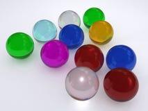 Kleurrijke glasballen Stock Foto