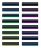 Kleurrijke glasknopen Royalty-vrije Stock Fotografie