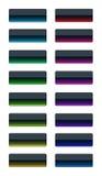 Kleurrijke glasknopen Stock Foto's