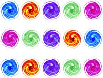 Kleurrijke glasspiraal Stock Foto's