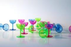 Kleurrijke Glazen stock afbeelding