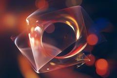 Kleurrijke gloeiende fractal oppervlakte abstracte achtergrond Stock Illustratie