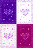 Kleurrijke goede gelukkaart Stock Foto's