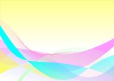 Kleurrijke golfachtergrond Royalty-vrije Stock Foto