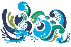 Kleurrijke golven Royalty-vrije Stock Afbeeldingen