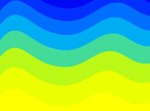 Kleurrijke golven royalty-vrije illustratie