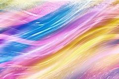 Kleurrijke golven Stock Afbeelding