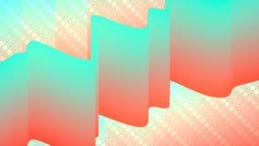 Kleurrijke gradiëntanimatie De toekomstige geometrische achtergrond van de patronenmotie het 3d teruggeven stock illustratie