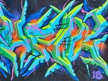 Kleurrijke Graffiti, Bondi-de Muur van de Strandgraffiti, Sydney, Australië royalty-vrije stock fotografie