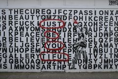 Kleurrijke graffiti in Croydon, het UK Royalty-vrije Stock Foto