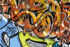 Kleurrijke graffiti op de muur Royalty-vrije Stock Foto