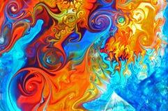 Kleurrijke graffitiachtergrond Stock Foto's