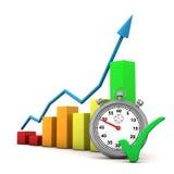 De Tik van de Chronometer van de grafiek Royalty-vrije Stock Foto's