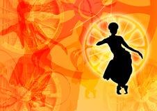 Kleurrijke grafische dans stock illustratie