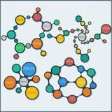Kleurrijke grafische patronen Royalty-vrije Stock Foto