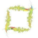 Kleurrijke grens met groene bloemen Royalty-vrije Stock Afbeelding