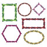 Kleurrijke grensframes Stock Afbeelding