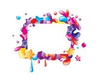 Kleurrijke grensvormen Stock Foto